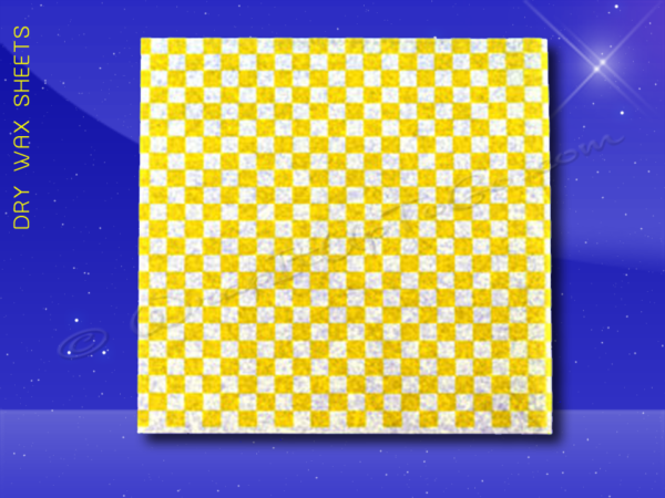 Dry Wax Sheets – 12 x 12 – Yellow Checkerboard 1