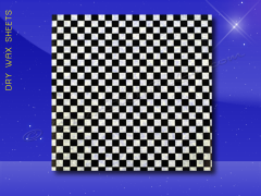 Dry Wax Sheets - 12 x 12 - Black Checkerboard
