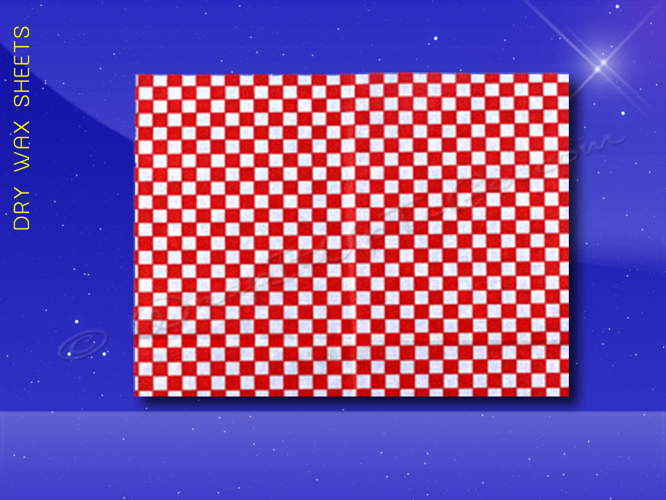 Dry Wax Sheets - 12 x 16 - Red Checkerboard