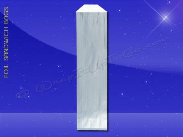 Foil Hot Dog Bags - 3-1/2 x 1-1/2 x 12 - Plain