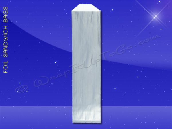 Foil Hot Dog Bags – 3-1/2 x 1-1/2 x 12 – Plain 1