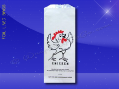 Foil Lined Bags - Quart - 5 x 3-3/4 x 12 - Printed Chicken