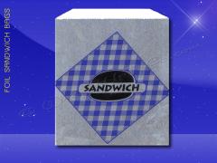 Foil Sandwich Bags - 6 x 3/4 x 6-1/2 - Printed Sandwich