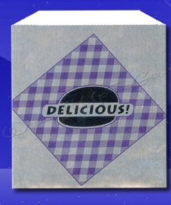 Foil Jumbo Sandwich Bags - 6-1/2 x 1-1/2 x 7-3/4 - Printed Delicious