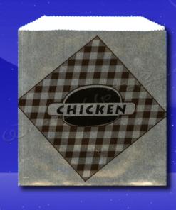 Foil Sandwich Bags - 6 x 3/4 x 6-1/2 - Printed Chicken