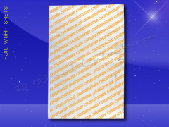 Foil Wrap Sheets - 10-1/2 x 14 - Printed Cheeseburger