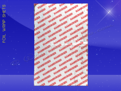 Foil Wrap Sheets - 10-1/2 x 14 - Printed Hamburger
