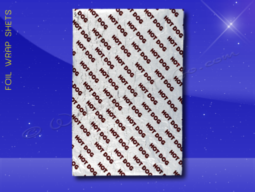 Foil Wrap Sheets – 9 x 12 – Printed Hot Dog 1