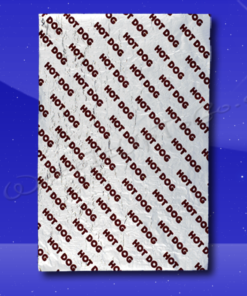 Foil Wrap Sheets - 9 x 12 - Printed Hot Dog Sale