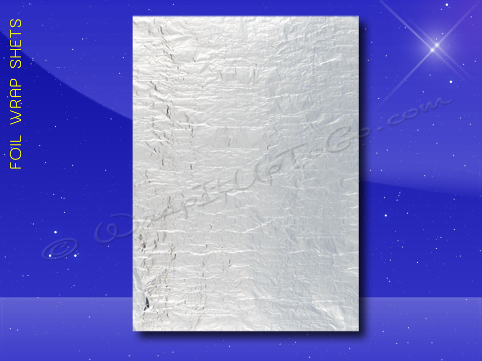 Foil Wrap Sheets - 10-1/2 x 13 - Plain