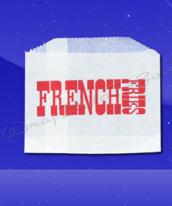 French Fry Bags - 4-1/2 x 3-1/2 - Printed French Fries