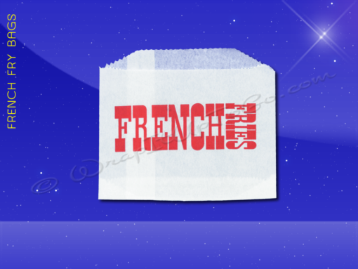 French Fry Bags – 4-1/2 x 3-1/2 – Printed French Fries 1
