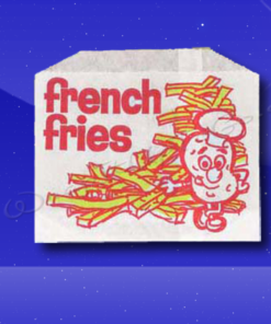 French Fry Bags - 4-7/8 x 4 - Printed French Fries
