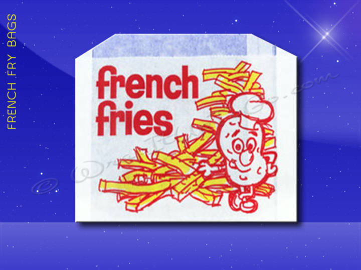 French Fry Bags - 5-1/2 x 1 x 4 - Printed French Fries