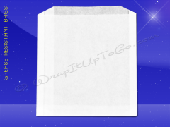 Grease Resistant Sandwich Bags - 6 x 3/4 x 6-1/2 - Plain