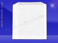 Grease Resistant Sandwich Bags - 6 x 3/4 x 6-1/2 - Plain