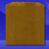 Grease Resistant Sandwich Bags - 6 x 3/4 x 6-1/2 - Natural Kraft (brown)