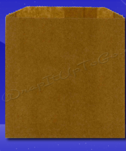 Grease Resistant Sandwich Bags – 6 x 3/4 x 6-1/2 – Natural Kraft (brown) 1