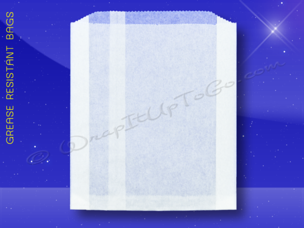 WrapItUpToGo.com – Grease Resistant Jumbo Sandwich Bags – 6-1/2 x 1-1/2 x 7-3/4 – Plain 1
