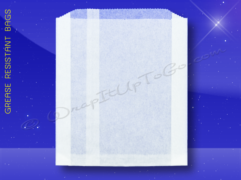 Grease Resistant Jumbo Sandwich Bags - 6-1/2 x 1-1/2 x 7-3/4 - Plain