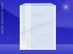 Grease Resistant Sandwich Bags - 7 x 3/4 x 9 - Plain