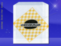 Grease Resistant Sandwich Bags – 6 x 3/4 x 6-1/2 – Printed Cheeseburger 1