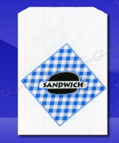 Grease Resistant Extra Long Sandwich Bags – 6-3/4 x 3/4 x 8-1/2 – Printed Sandwich 1
