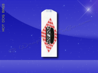Hot Dog Bags - Conventional - 3 x 2 x 8-3/4 - Printed Hot Dog - Each - Overstock Sale