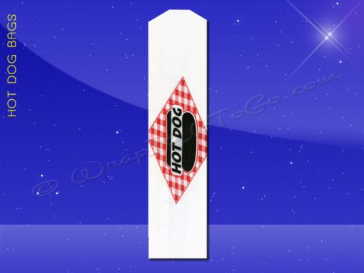 Hot Dog Bags – Conventional – 3 x 2 x 12 – Printed Hot Dog 1