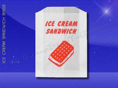 Ice Cream Bags - 4-1/2 x 1 x 5-3/4 - Ice Cream Sandwich