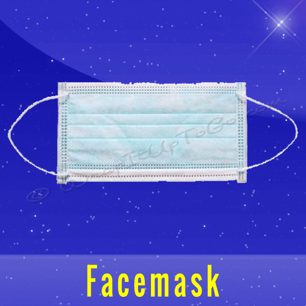 Strong Earloop Facemask Blue