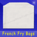 Fischer Paper Products 602 French Fry Bags 4-1/2 x 3-1/2 Plain