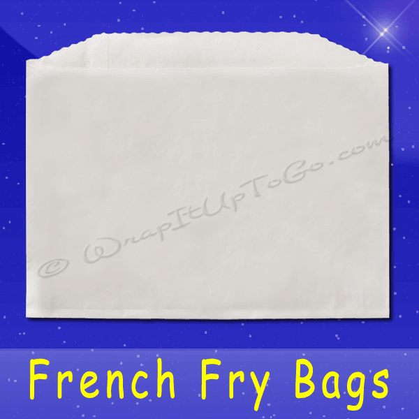 Fischer Paper Products 604 French Fry Bags 4-7/8 x 4 Plain