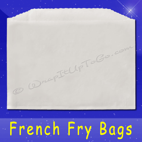 Fischer Paper Products 606 French Fry Bags 5-1/2 x 1 x 4 Plain
