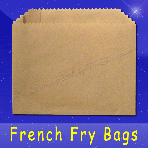 Fischer Paper Products 606-NK French Fry Bags 5-1/2 x 1 x 4 Natural Kraft TruKraft
