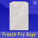 Fischer Paper Products 608-FF2 French Fry Bags 5-1/2 x 1 x 8 Plain