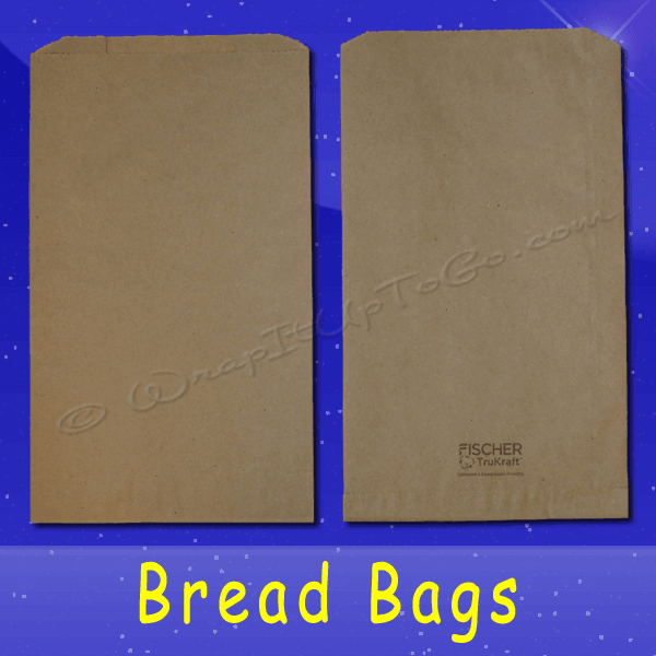 Fischer Paper Products BB-15 Bread Bags 8-1/2 x 4-1/2 x 14 Natural Kraft (brown) Plain (no print)