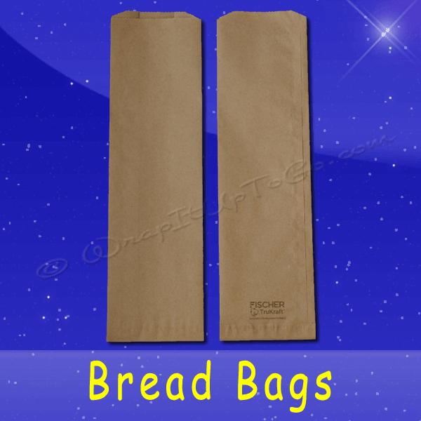 Fischer Paper Products BB-23 Bread Bags 5-1/4 x 3-1/4 x 18 Natural Kraft (brown) Plain (no print)