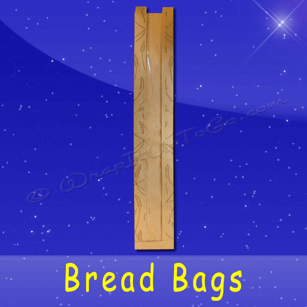 Fischer Paper Products BB-KP-28 Bread Bags With Poly Panel 4-1/2 x 2-1/2 x 28 Printed Fresh Baked