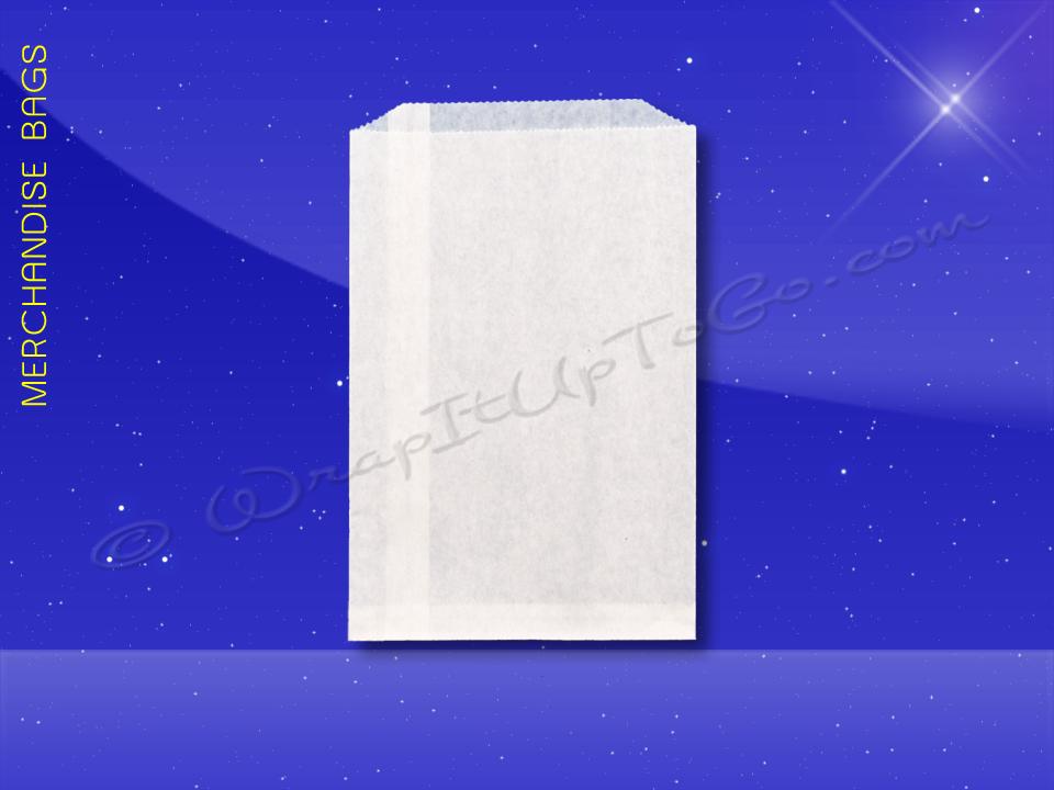 Fischer Paper Products 1721 Merchandise Bags Bleach Kraft 5 x 7.5 Plain White