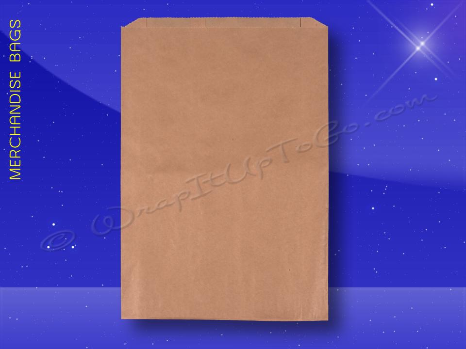 Fischer Paper Products 1708 Merchandise Bags Natural Kraft 12 x 3 x 18 Plain