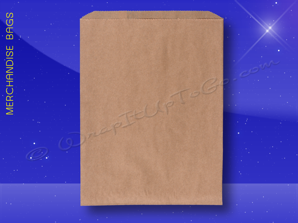 Fischer Paper Products 1714 Merchandise Bags Natural Kraft 10 x 13 Plain