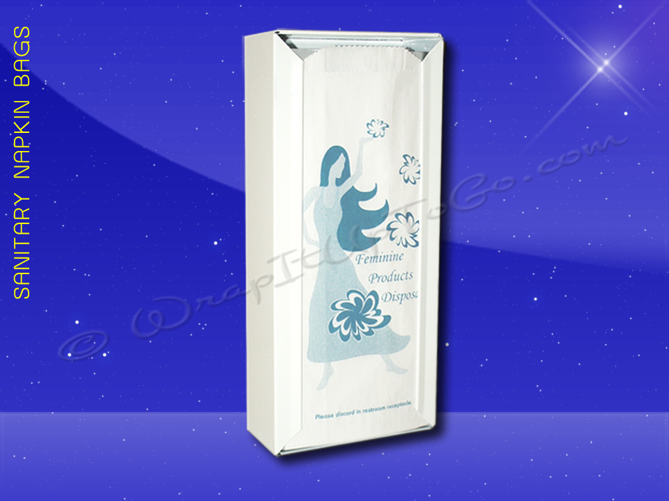 Fischer Paper Products 490 Sanitary Napkin Bags 4-1/4 x 2 x 10-1/8Dispenser